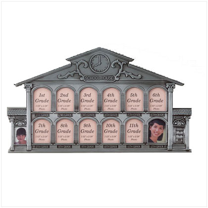 Pewter School House Photo Frame