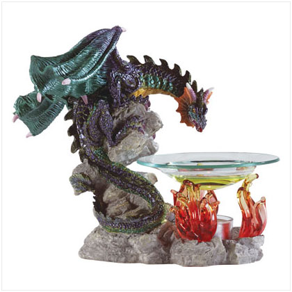 Dragon and Flames Oil Warmer