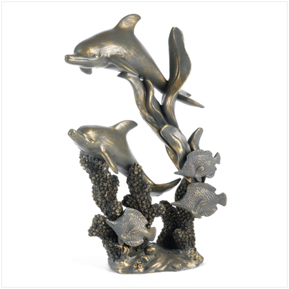Antique Bronze Finish dolphins