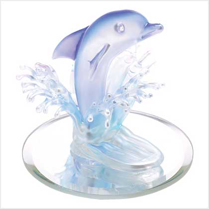 Art-glass dolphin Figurine